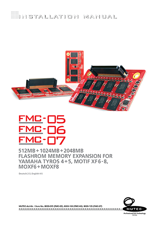 MUTEC - Professional A/V and High-End Equipment - FMC-5, FMC-6, FMC-7